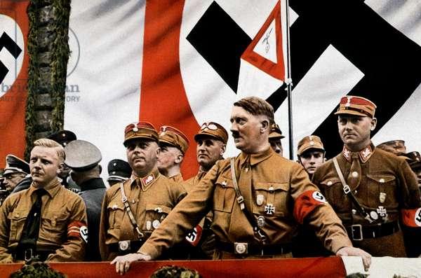 Hitler and other SA leaders at a rally
