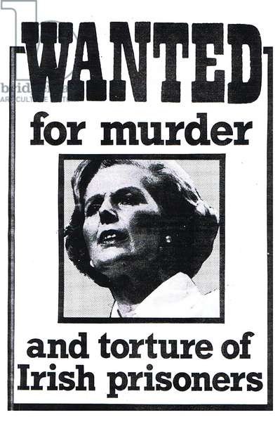 Wanted Poster for Margaret Thatcher