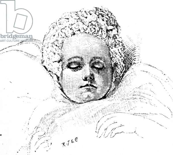 An infant Queen Victoria