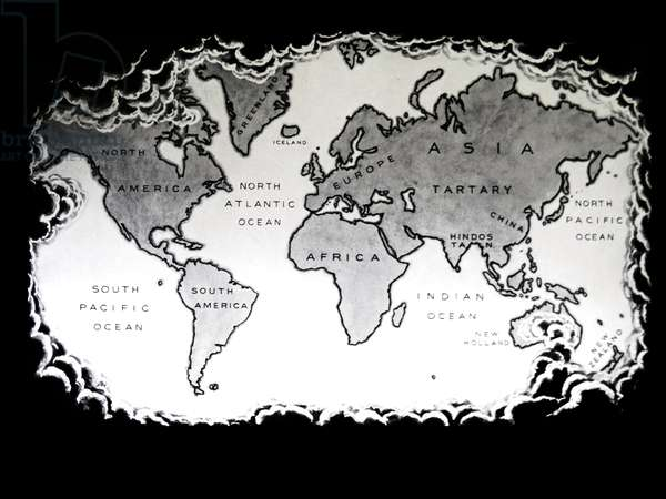 The world as known after the voyages of Captain James Cook, 1779