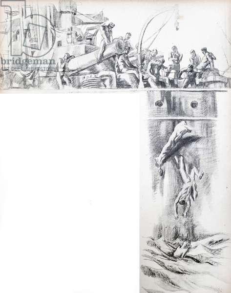 Republican mutineers seize a ship during the Spanish civil war