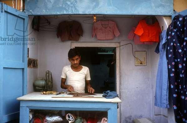 A Laundrette. India.  (photo)