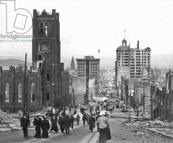 California Street in san Francisco, 1906