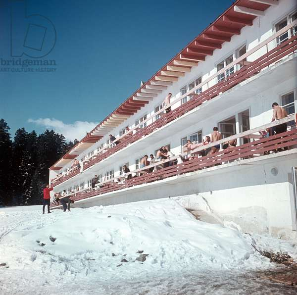 Georgian Ssr, Bakuriani, Sputnik International Youth Camp, February 1968.