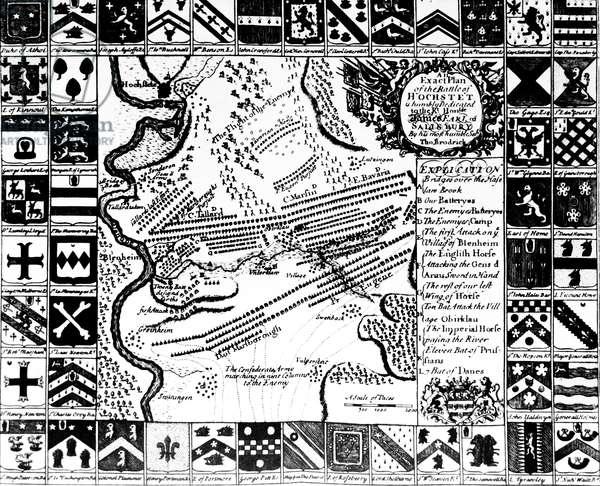 Plan of the Battle of Blenheim