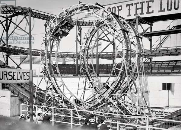 'Loop the Loop', Coney Island, 1903 (b/w photo)