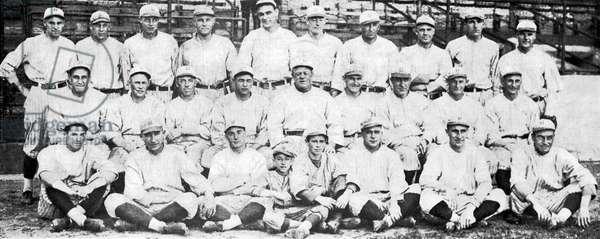 Brooklyn Dodger Champions (b/w photo)