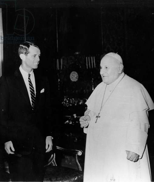 Rome, February 21, 1962, Pope John XXIII received in audience at the Vatican Robert Kennedy