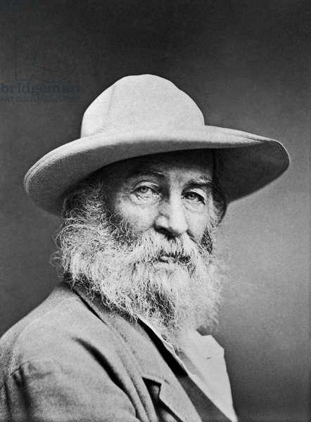 Portrait Of Walt Whitman, United States of America, 1870 (b/w photo)