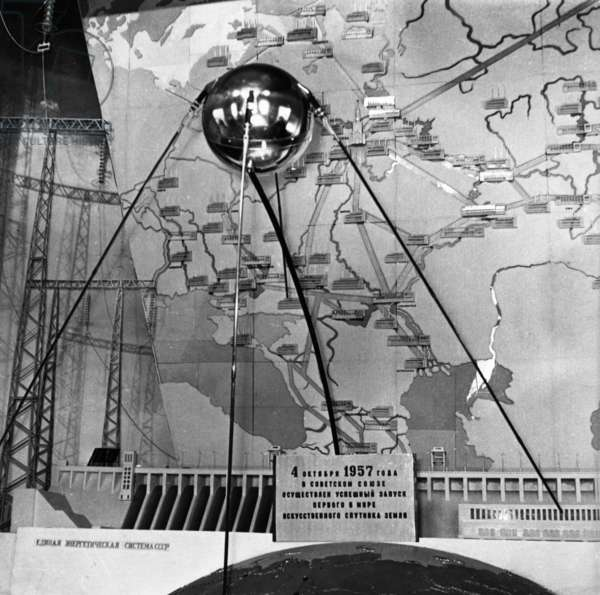 A Facsimile of the Sputnik 1 Satellite on Exhibit in Moscow, November 1959.