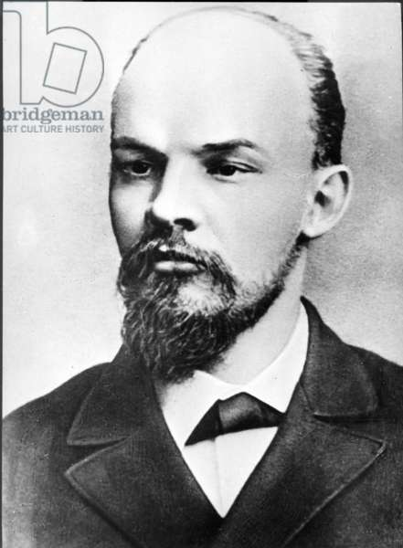 Vladimir Ilyich Ulyanov (Lenin) in St. Petersburg in 1897.