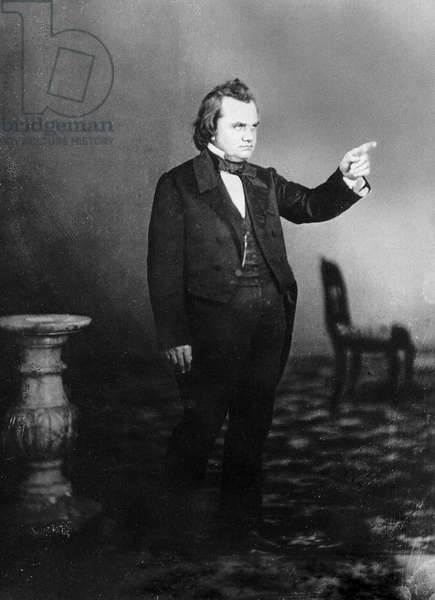 Stephen Arnold Douglas : Stephen A. Douglas, photographed at the time of the debates with Abraham Lincoln ©Encyclopaedia Britannica/UIG/Leemage