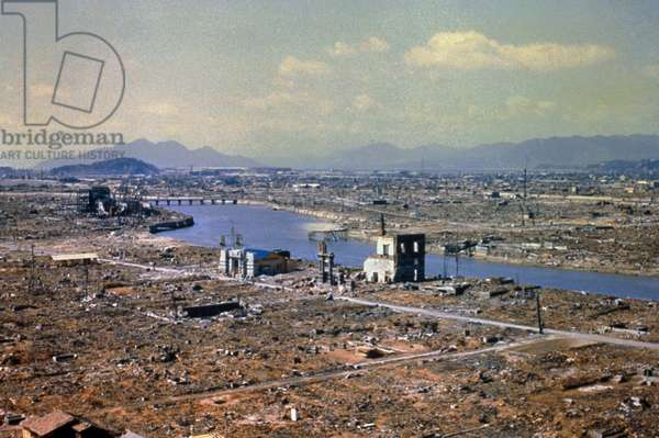 World War Two destruction after the atomic bomb.