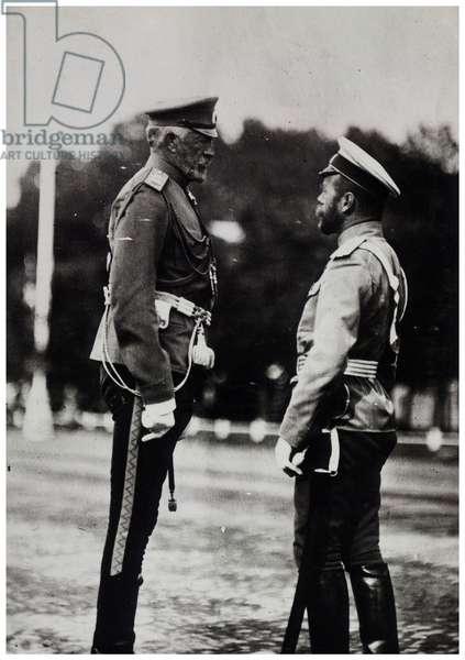 Grand Duke Nicholas and tsar Nicholas II of Russia