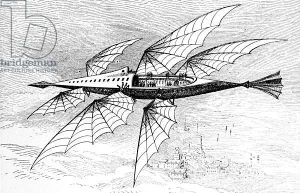 Idea for air travel in America, 1880 Attributed to Thomas Edison