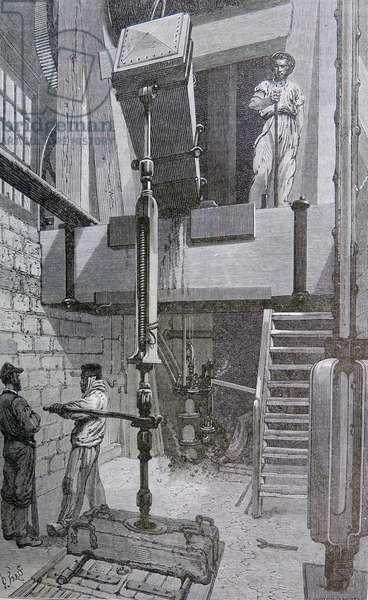 Drilling a mine shaft