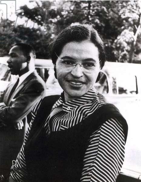 Rosa Parks, 1955 (b/w photo)