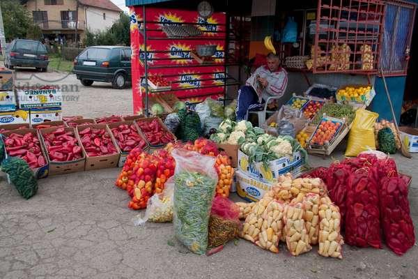 Vegetable Vendor, Gracanica, Kosovo (photo)