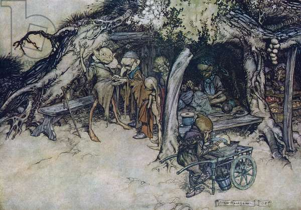 Illustration by Arthur Rackham for ''A Midsummer Night's Dream''