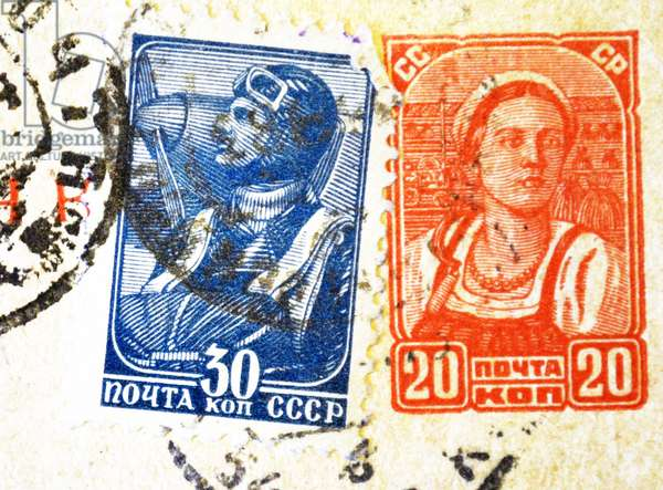 World War Two: Russian war stamps