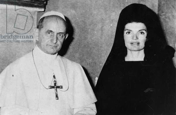 Papa Paolo VI with Jacqueline Kennedy.