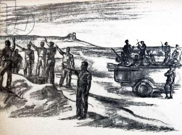 Nationalist militia depicted in an illusration