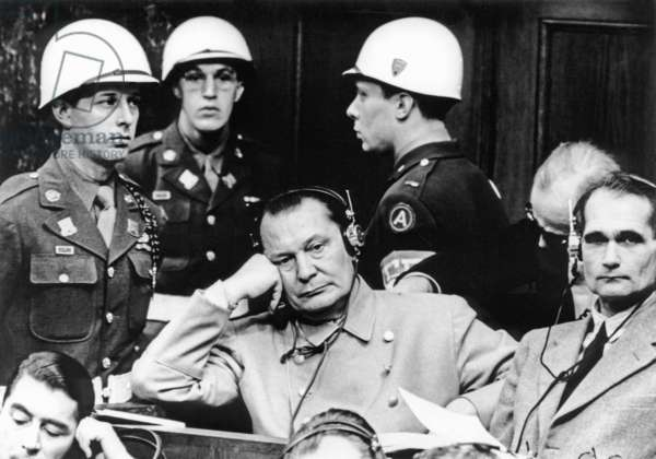 Reichmarshall Hermann Goring And Rudolf Hess During Their Trial In Nuremburg