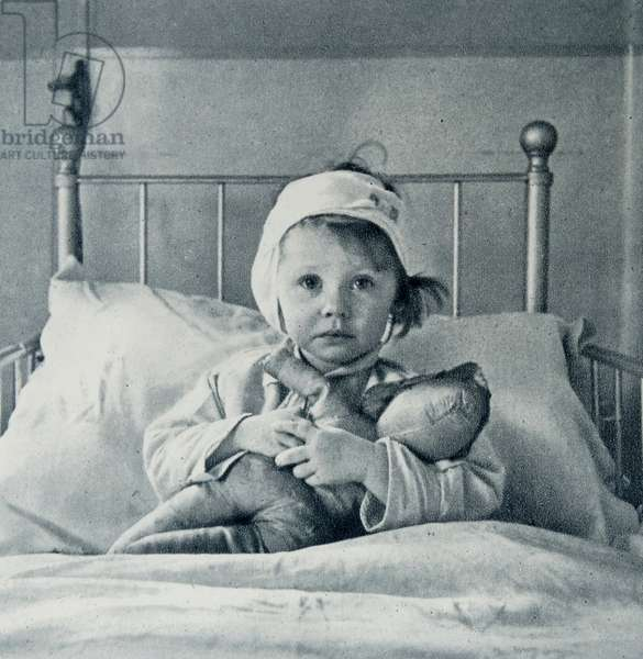 Three-year-old victim of the London Blitz, in hospital by Cecil Beaton