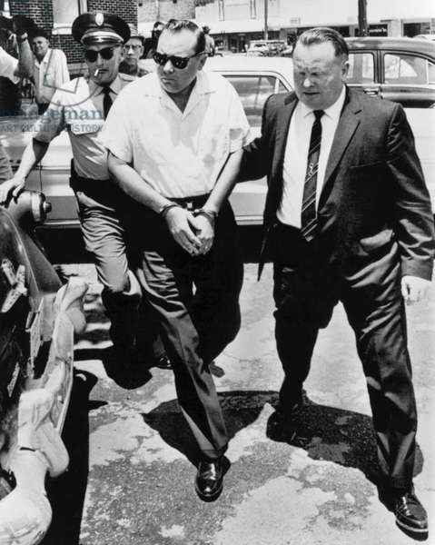 James Meredith Ambush Shooter, Ripley, Mississippi, June 14, 1966 (b/w photo)