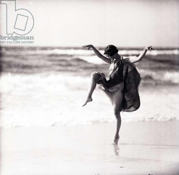 Dancer Anna Denzler, 1921 (b/w photo)