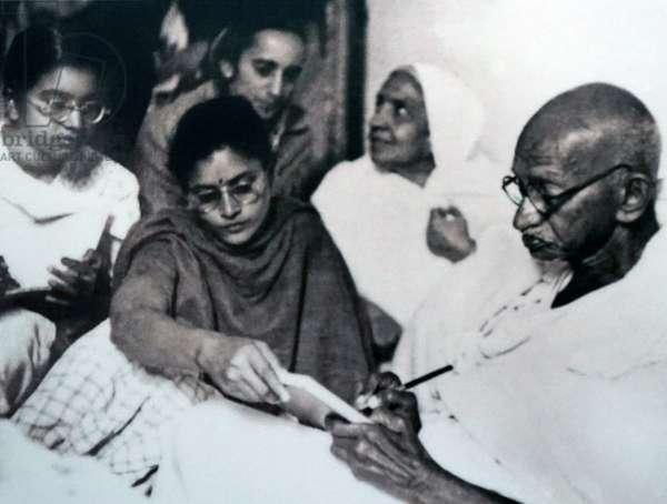 Hunger strike by Mohandas Karamchand Gandhi