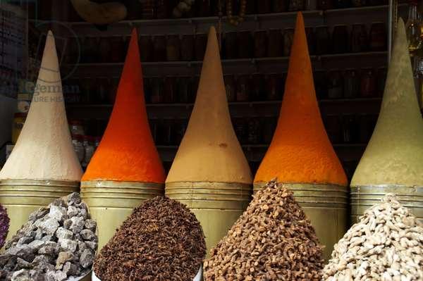 Morocco, Marrakesh.  Spices