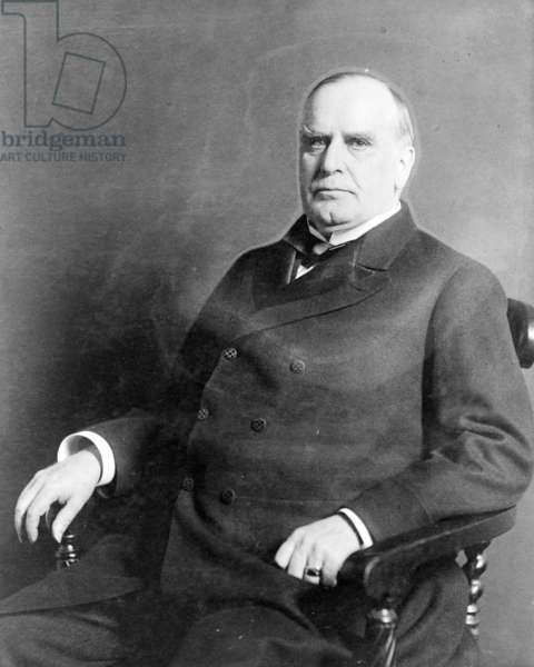 Three-quarter length portrait of President William McKinley, 1900