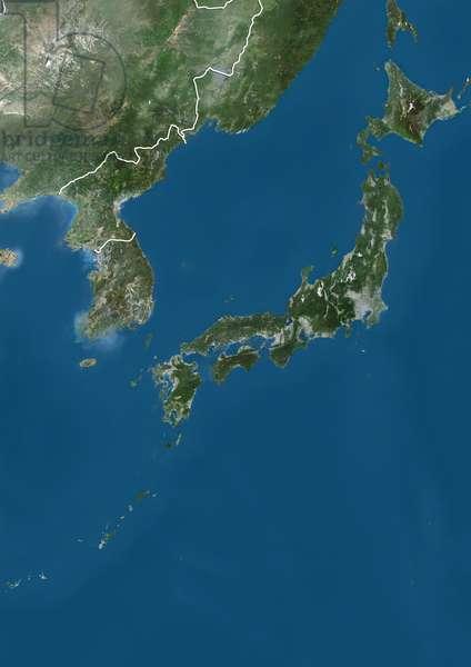Japan and Korean Peninsula, Natural Colour Satellite Image (photo)