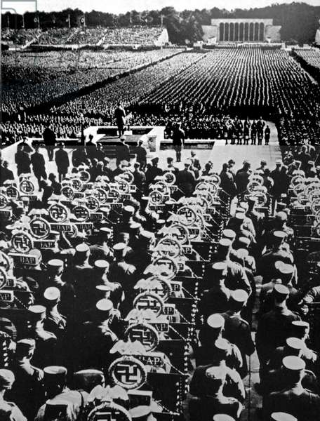 The Nuremberg Rallies were the annual rally of the Nazi Party in Germany, held from 1923 to 1938.  They were large Nazi propaganda event.