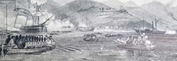 The first capture of Chusan by British forces in China