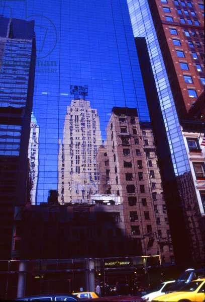 Reflections in New York skyscraper windows