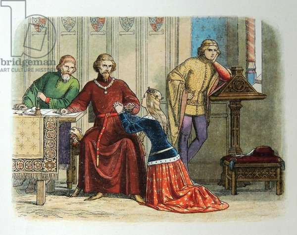 Queen Anne pleads with the Earl of Arundel