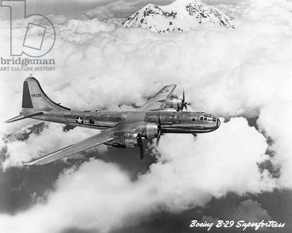 Boeing B-29 Superfortress (b/w photo)