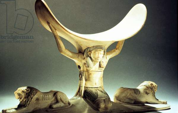 Treasure of Tutankhamun (dc1340 BC): Ivory pillow. Cairo Museum, Egypt