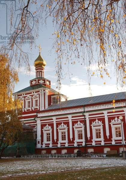 Assumption Church In Novodevichy Convent In Moscow : Assumption Church in Novodevichy Convent in Moscow, Russia, 03/11/09 ©ITAR-TASS/UIG/Leemage