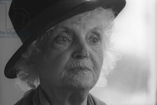 Laura Huxley, widow of Aldous Huxley (b/w photo)