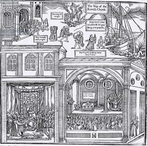 Woodcut from John Foxe's The Book of Martyrs, London 1570