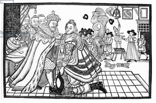 James I and VI welcoming Prince Charles home, 1623