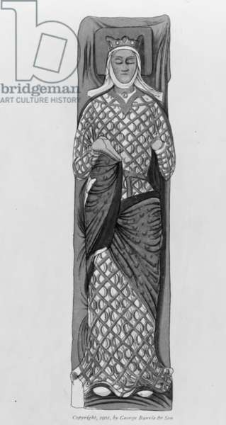 An enamelled stone effigy of Eleanor of Aquitaine, 1901
