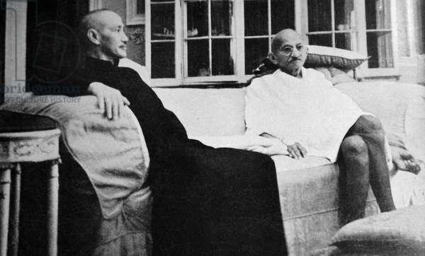 Mohandas Karamchand Gandhi With Marshal Chiang Kai-shek, 1942