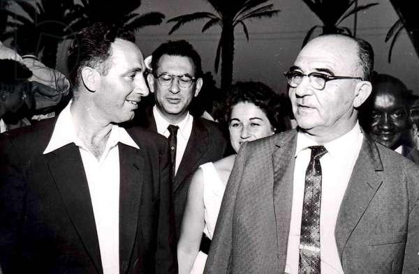 Levi Eshkol with Shimon Peres