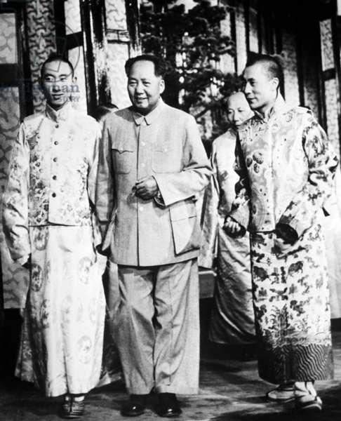 Pachen Lama, Mao-tse-Tung and the Dalai Lama, 1958