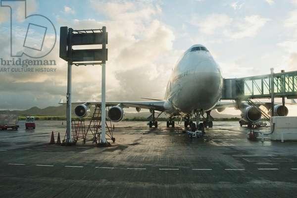 Air France Boeing 747-400 at Sir Seewoosagur Ramgoolam International Airport, Mauritius (photo)