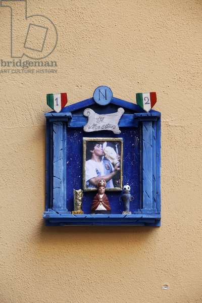 Maradona shrine in Naples (photo)
